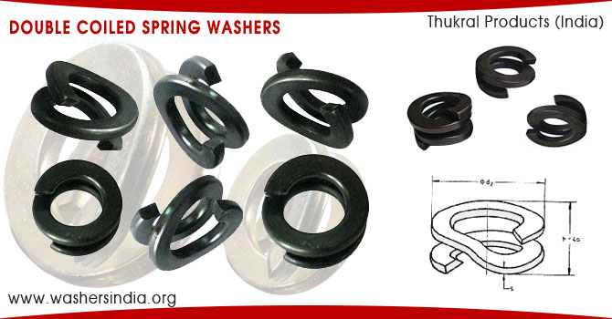 double spring washers double coiled spring washers manufacturers suppliers exporters in india punjab ludhiana
