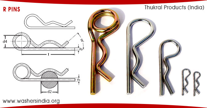 r pins RPins Retaining Pins R-clips Hair Pins double loop r pins rclips manufacturers suppliers exporters in india punjab ludhiana